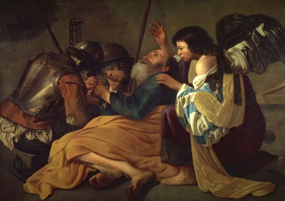 Brugghen, Hendrick Ter: The Liberation of St. (Saint) Peter. Fine Art Print/Poster. Sizes: A4/A3/A2/A1 (002150)